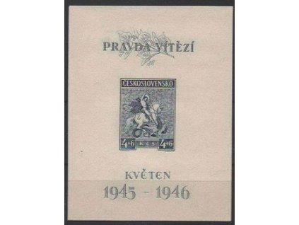 1946, 4+6Kčs Květen, typ II, Nr.A435, **