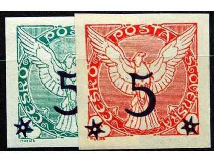 1925, 5/2-5/6h série, Nr.NV9-10, * po nálepce