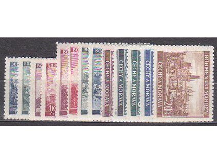 1939, 40h-20K Krajinky I, série, Nr.28-40, **