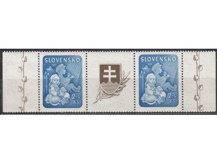 1944, 2Ks Dětem, spojka s okraji, Nr.119, **
