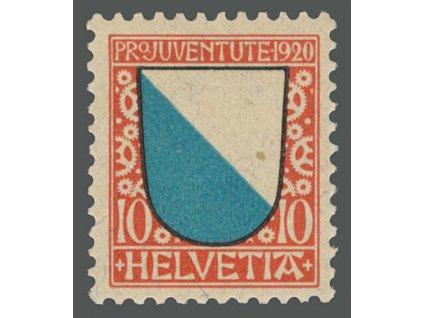 1920, 10C Znak, MiNr.154, ** , výrobní dv