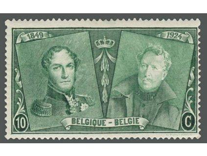 1925, 10C Výročí belgické známky, MiNr.191, * po nálepce