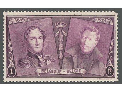 1925, 1 Fr Výročí belgické známky, MiNr.200, * po nálepce