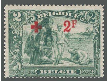 1918, 2Fr + 2Fr Červený kříž, MiNr.140, ** , nepatrné natržení