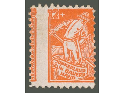 Sovětská zóna, Mecklenburg, 1945, 12Pf Rolník, posun, (*)