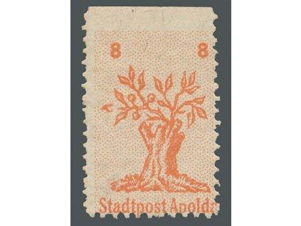Apolda, 1945, 8Pf Strom, MiNr.3, **