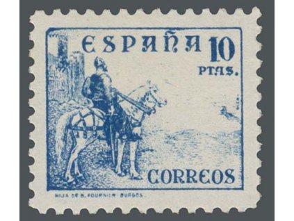 1937, 10 Pta El Cid, MiNr.780II, **
