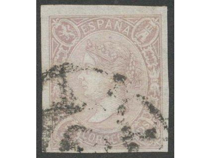 1865, 2 Cs Isabella, MiNr.67, razítkované