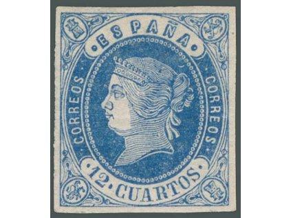 1862, 12 Cs Isabella, MiNr.51, * po nálepce, lomy