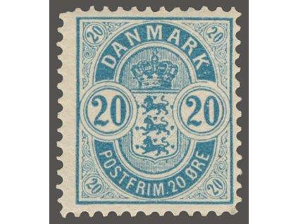 1884, 20Q modrá, MiNr.36ZB, * po nálepce