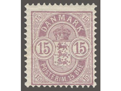 1901,15Q růžová, MiNr.38, * po nálepce