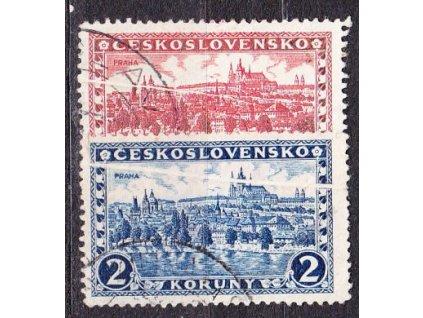 1926, 2 a 3Kč Praha, obě zn. složka, Nr.225,230, razítkované