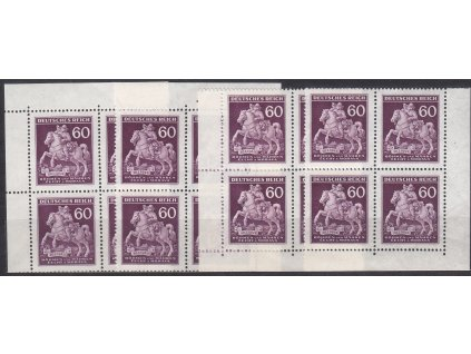 1943. 60h Postilión, roh. miniatura ve 4bloku, Nr.102, **