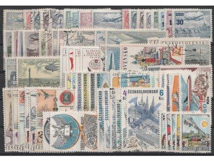 Československo 1946-77, kompletní řada leteckých zn., razítkované, ilustrační foto