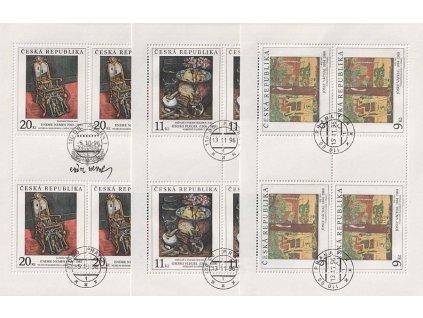 1996, 9-20Kč PL - Umění 1996, Nr.PL129-31, razítkované