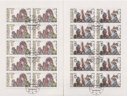 1998, 11-15Kč PL - Slavnosti a svátky, Nr.PL183-84, razítkované