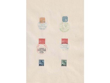 1940/41, pamětní list se 4 razítky, formát A4