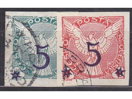 1925, 5/2-5/6h série, Nr.NV9-10, razítkované