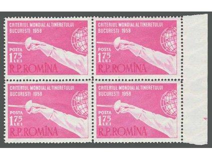 1958, 1.75 L Mistrovství v šermu, 4blok, MiNr.1706, **