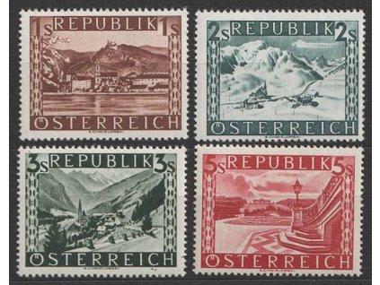 1945, 1-5 S koncové hodnoty série, MiNr.767I,762I,763II,764I
