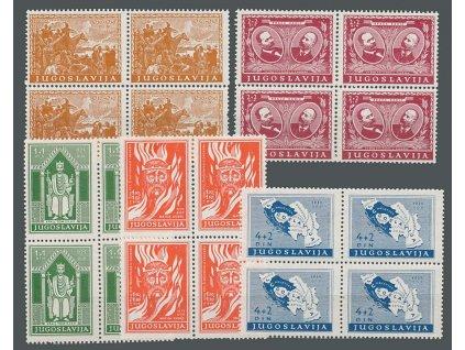1940, 0.50-4 Din série, 4bloky, MiNr.413-17, **/*