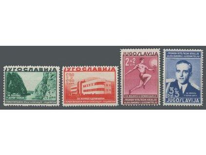 1938, 1-3 Din série Sanatorium, MiNr.358-61, **