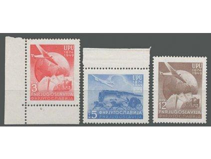 1949, 3-12 Din série UPU, MiNr.578-80, **