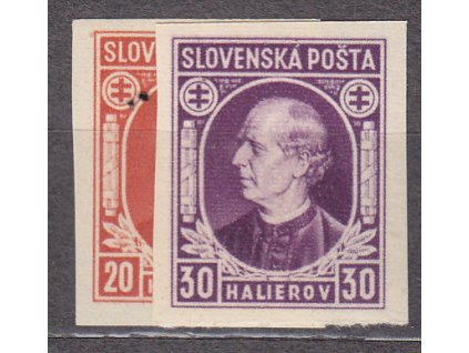 1939, 20-30h Hlinka, nezoubkované, Nr.27-8N, **, ilustrační foto