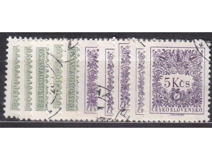 1963, 5h-5Kčs Doplatní II, rámcové zoubkování 11 1/4:11 3/4, Nr.D79-91B, 10hodnot - kompletní řada, razítkované