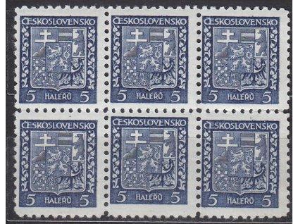 1929, 5h Znak, 6blok s posunutou moletou, Nr.248, **/*