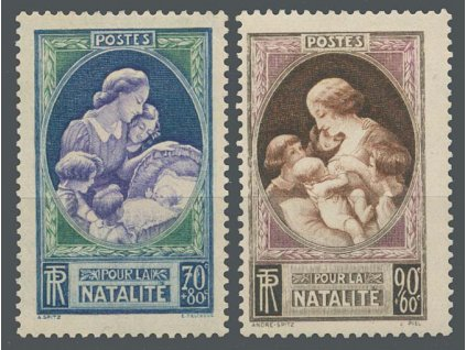 1939, 70-90C série Matka a dítě, MiNr.455-56, **