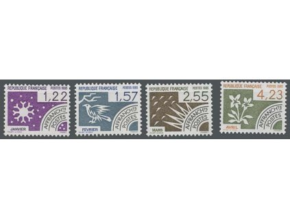 1985, 1.22-4.23Fr série Vorausentwertung, MiNr.2479-82, **
