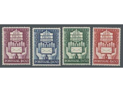 1949, 1-4E série UPU, MiNr.740-43, **