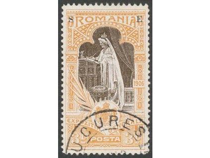 1906, 3 L služební, MiNr.XI, razítkované, lehce zeslabeno