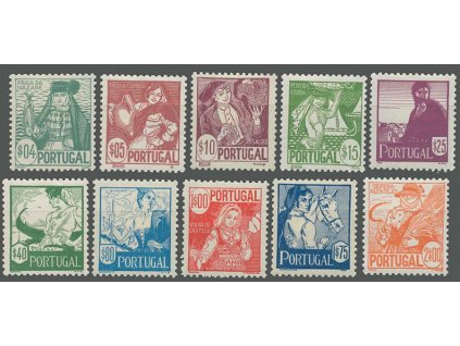 1941, 0.04-2E série Kroje, MiNr.632-41, * po nálepce
