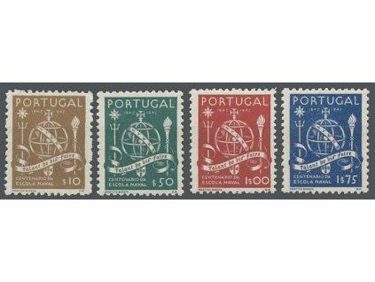 1945, 10C-1.75E série Námořní škola, MiNr.689-92, **