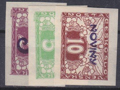1926, 5/2-10h série, Nr.NV11-13, **