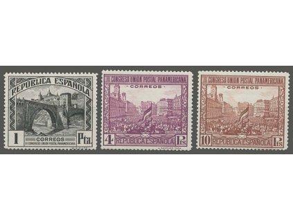 1931, 1, 4 a 10Pta Poštovní kongres, MiNr.589,590,591, **/*
