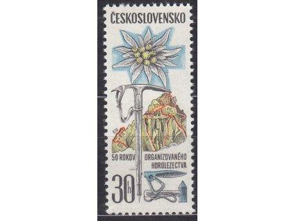 1971, 30h Horolezectví, DV - vodorovná čára u cepínu, Nr.1893, **, vzácná DV