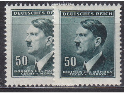 1942, 50h Hitler, 2 ks - odstíny barev, Nr.81, **