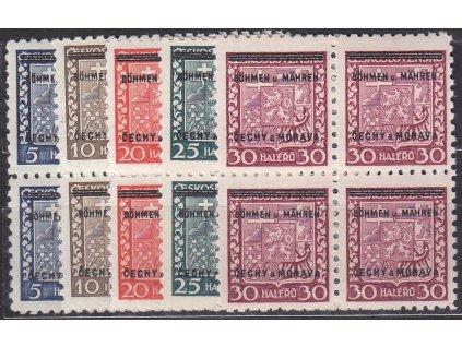 1939, 5-30h, 4bloky, Nr.1-5, **, ilustrační foto