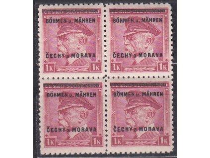 1939, 1K Masaryk, 4blok, Nr.10, **, ilustrační foto