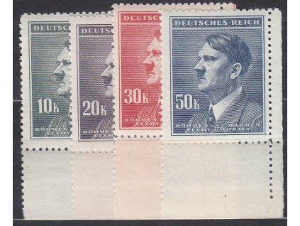 1942, 10-50K Hitler, pravé dolní roh. kusy, Nr.96-9, **