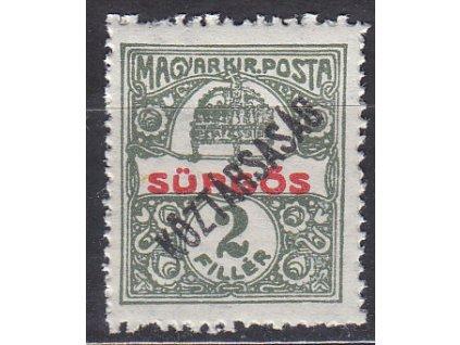 2f Spěšná, přetisk Köztársaság, známka platná v ČSR, **, ilustrační foto