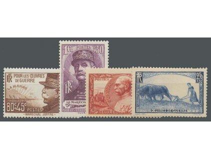 1940, 80C-2.50Fr Válečná série, MiNr.467-70, **