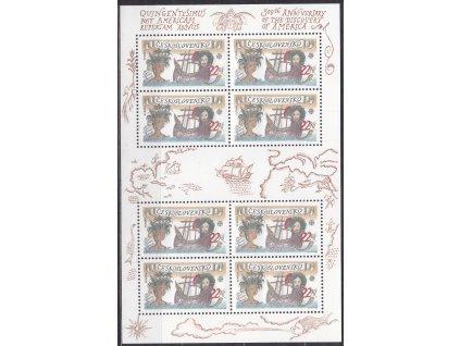 1992, 22Kčs aršík Kolumbus, Nr.A3006, **