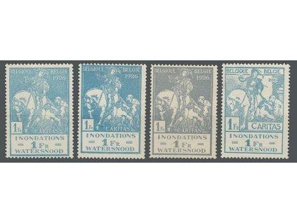 1926, 1Fr Inondations, 4 kusy - barvy, MiNr.208-9, **/*