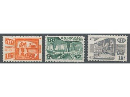 1950, 11-16Fr série Postpaketmarken, MiNr.30-32, **
