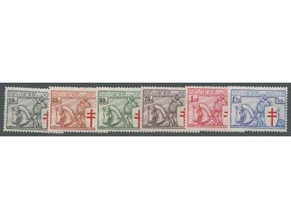 1934, 10C-1.75Fr série Tuberkulóza, MiNr.386-92, * po nálepce