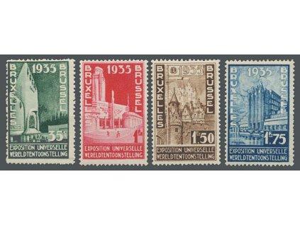 1934, 35C-1.75Fr Výstavní série, MiNr.378-81, **